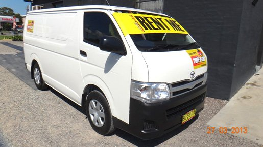 For increased customer satisfaction and to meet our expanding business requirements Cardiff Rent-a-Car is excited to announce that we have taken delivery of a brand new 2013 Toyota Hi-Ace van.